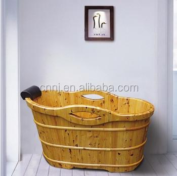 Single Design Wooden Bathtub Price (067A)