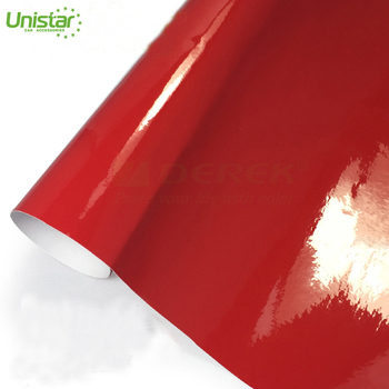 Red candy color 1.52*30m roll wholesale paper car vinyl wrap glossy sticker fillm for car full body