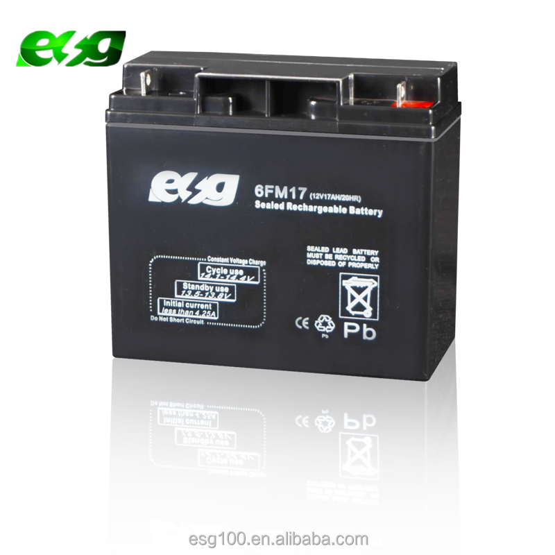 Rechargeable UPS Battery 12v 17ah 20hr battery