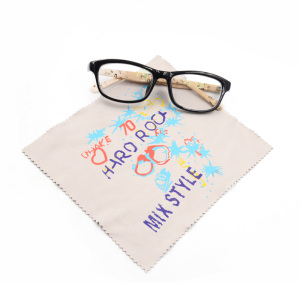 custom printed microfiber spectacles silk eyeglasses microfiber cleaning cloth
