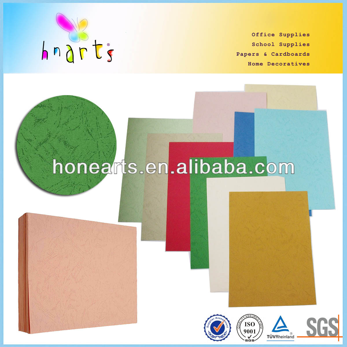 Colorful 250gsm embossed art paper/embossed art paper for cover wrapping