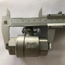 Dibuat Di Cina CF8M Stainless Steel 1/2 Inch Ball Valve ISO228/ISO7-1