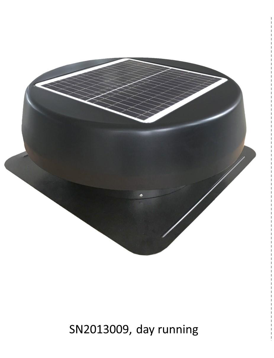 Vent Tools Sunny Turbo Roof Fan Portable Solar Panel
