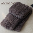 Best Price Superior Quality Scarves Genuine Rex Rabbit Genuine Fur Collar