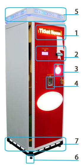 high speed game center system ticket house  / high speed ticket station game machine