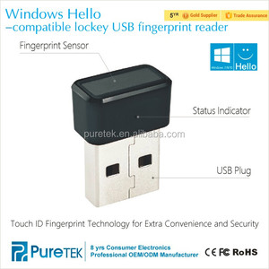 Fingerprint Security USB Reader for sign-in windows hello and for Windows 10 8 7 for login your Surface pro, laptop, PC