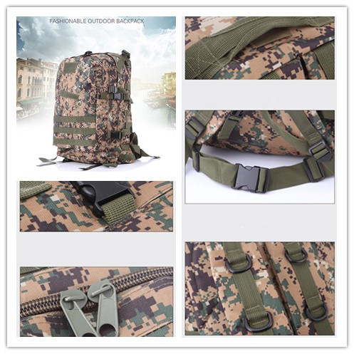 Waterproof 600D nylon molle sport tactical backpack military camping sport bag 36-55L