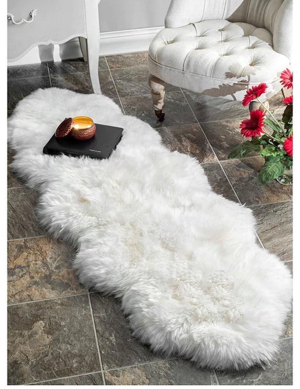 Get Quotations White Naturally Soft Sheepskin Wool Latex Free Handmade Alexa Double Natural
