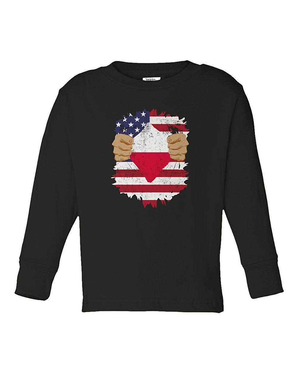 02efc1ec4 Societee Polish American USA Poland Pride Flag Youth   Toddler Long Sleeve  Tee Shirt
