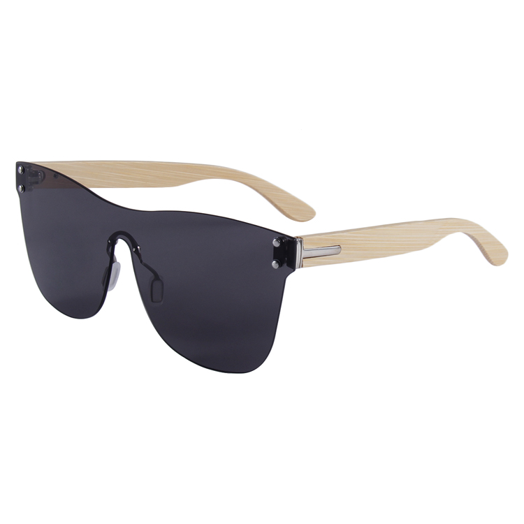 custom your logo bamboo temple one piece sunglasses, Custom colors