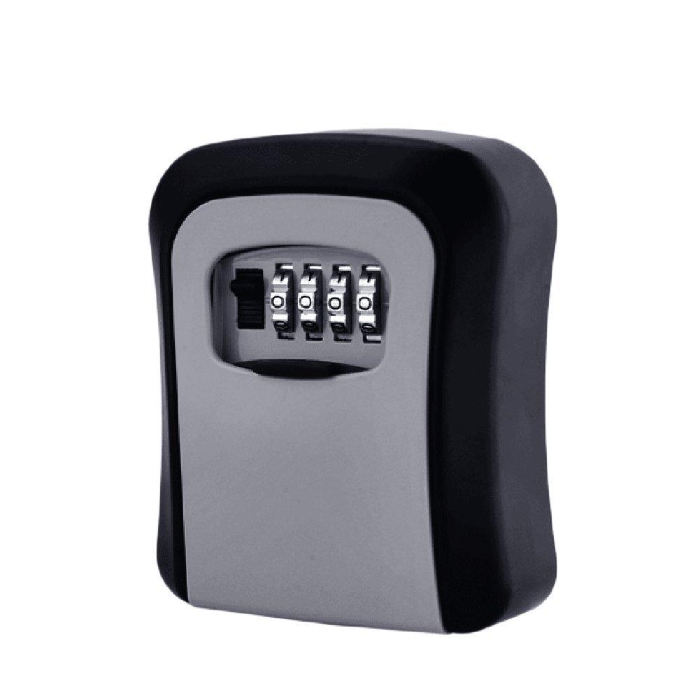 "Sundlight Key Lock Box, Zinc Alloy Key Storage Lock Box,4 Digit Combination Key Safe Box Wall Mounted Key Lock Case Organizer for Indoor Outdoor,4.72""x 3.26""x1.37"""