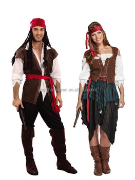 new design pirate cosplay costume captain man fashion cosplay costume wholesale halloween costume for men agm2070