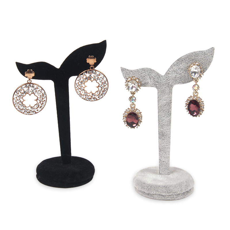 Gold earring designs pakistani dubai gold jewelry earring velvet stand