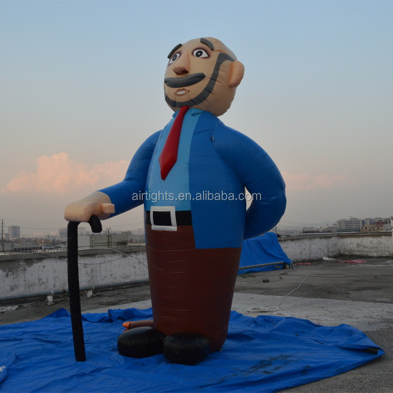 2.7m high inflatable Abraham model, giant holland cartoons, inflatable old man