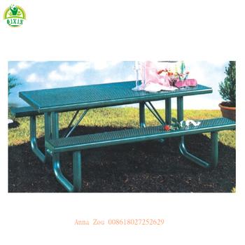 Haute Qualité En Acier Inoxydable Parc Meubles Tables Et Banc/table De  Jardin En Métal Et Chaise/balcon Table Pliante Et Chairqx-146j - Buy Tables  De ...