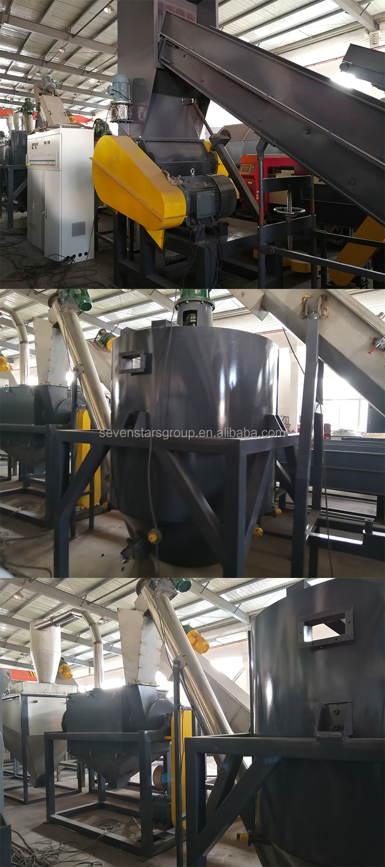 Mineral water plastic pet flake recycling bottle collection and recycling machine