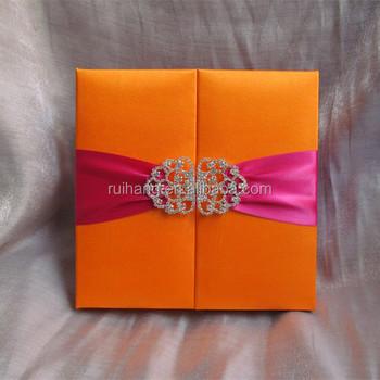 Silk Wedding Invitation Box White Silk Invitation Boxes ...