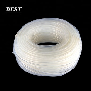 Transparent ultra thin wall silicone gel tube