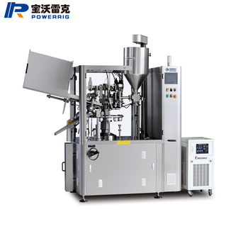 Fully automatic skin ointment soft tube filling and sealing machine for chemical super glue