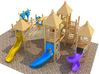Commercial Superior wooden outdoor playsets made by Kidsplayplay