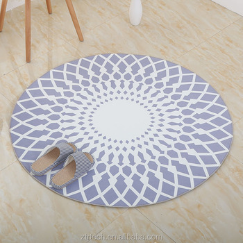 New Vintage Round Carpet Geometric Abstraction Pattern Floor Mat ...