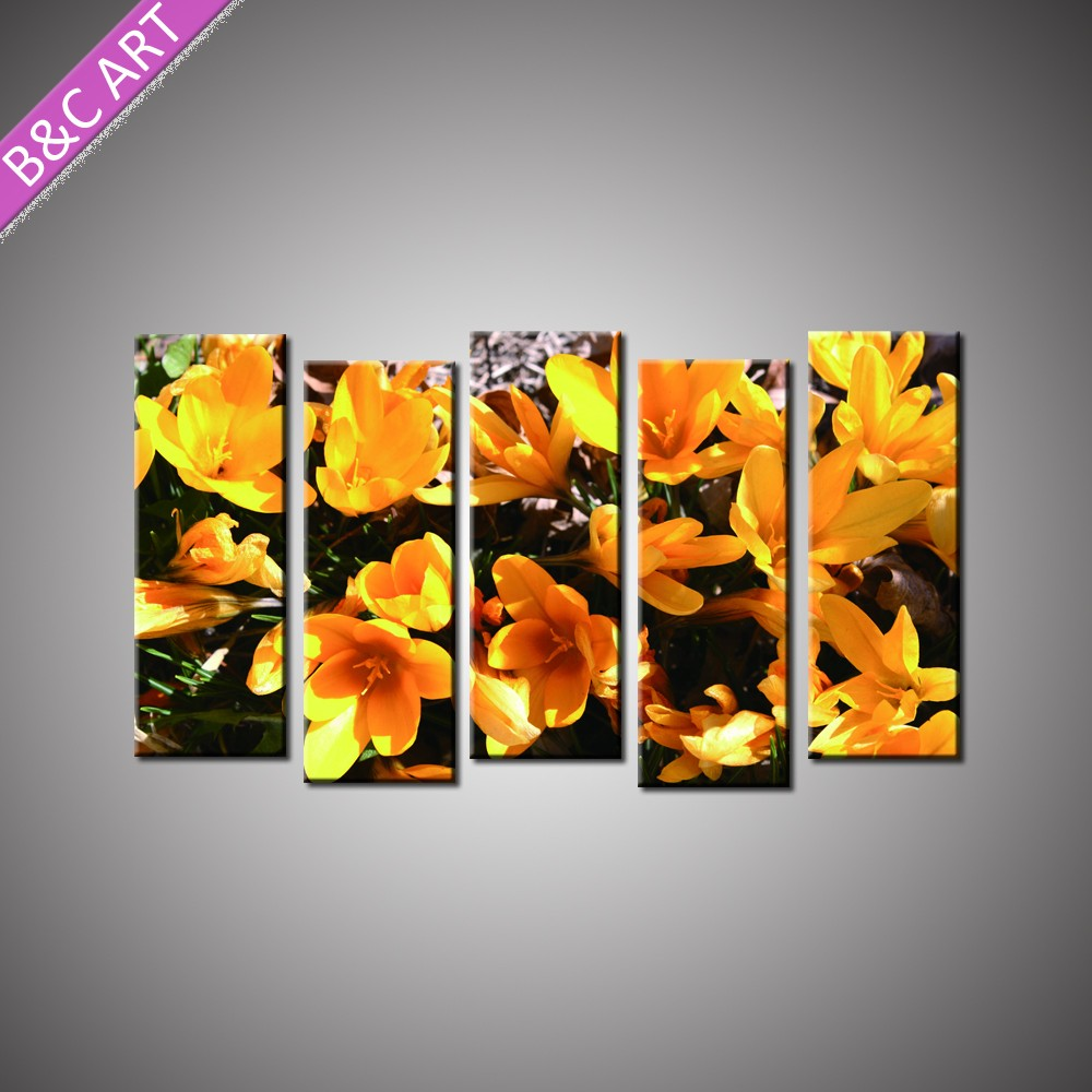 Wall art flower painting - Home Goods Wall Art 5 Pieces Group Modern Canvas Art Flower Painting For Living Room