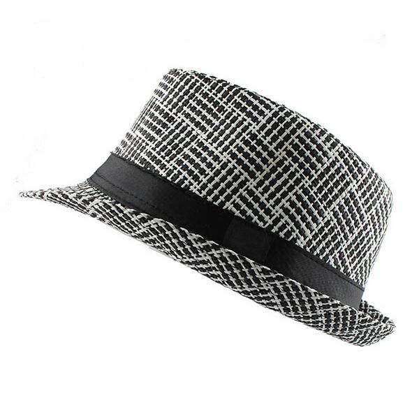 b64315391b4ca walmart summer hat Casual Panama Men Straw hat Beach Fashion Hat For Women
