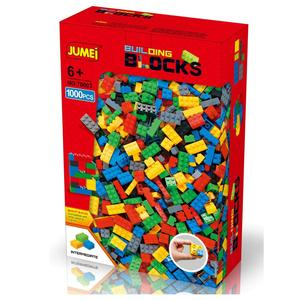 Eco-friendly abs JUMEI colorful building blocks, Z70003 1000pcs DIY General blocks