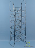 International 12-Bottle Chromed Silver Arched Wine Rack