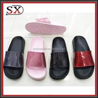 Women's Comfy Beach Indoor Summer Leather Slippers Flat Slide Sandals