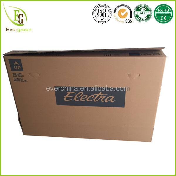 recycle material custom printed corrugated shipping boxes design for bicycle