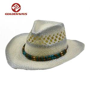 Custom made silver paint colombian cowboy hats