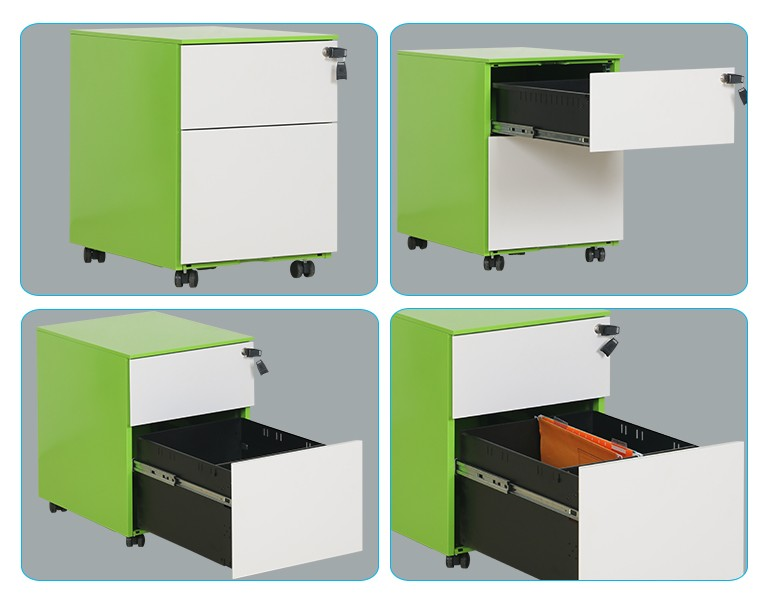 3 drawer office home mobile filing storage