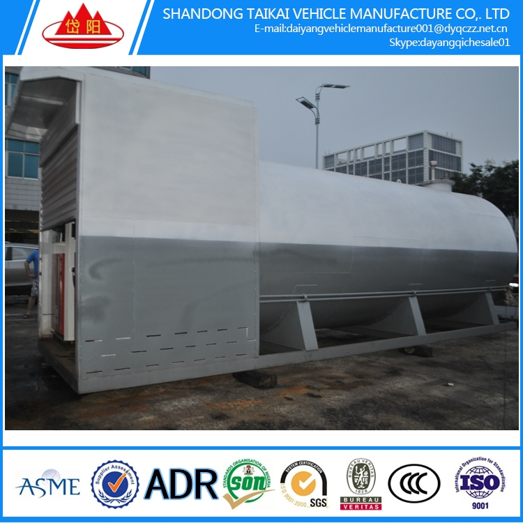 20 feet 1 tank mobile fuel petrol station