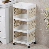 4 Tier Kitchen Storage Rack Fruit Vegetable Trolley Cart With Wheels