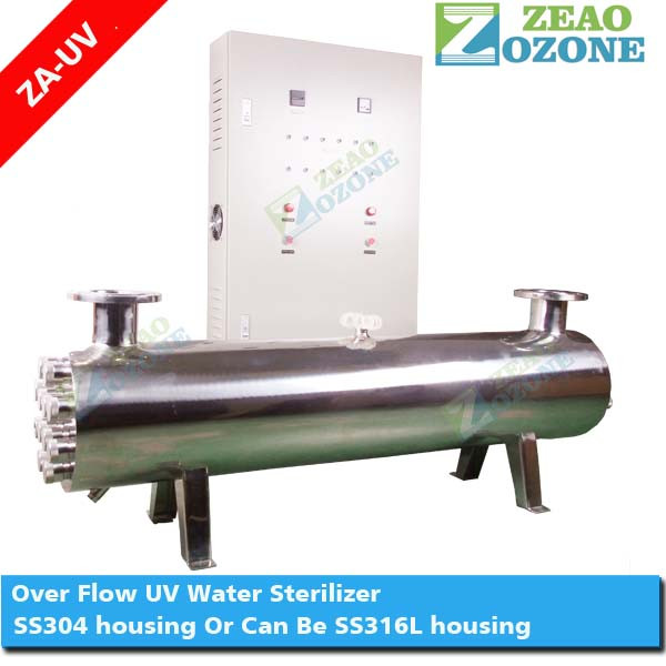 Whole commercial drinking water 60-300 M3/Hr stainless steel UV water sterilizer