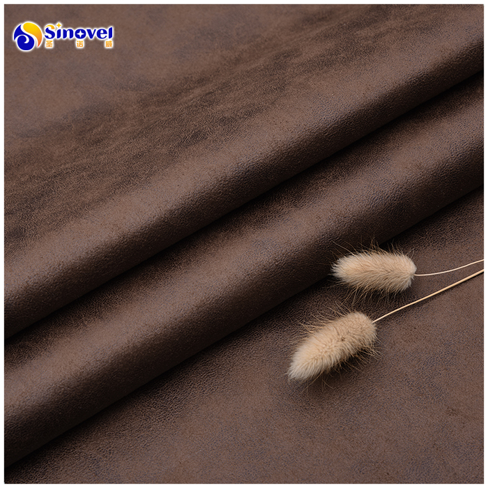 Classic bronzed faux knitted suede sofa fabric