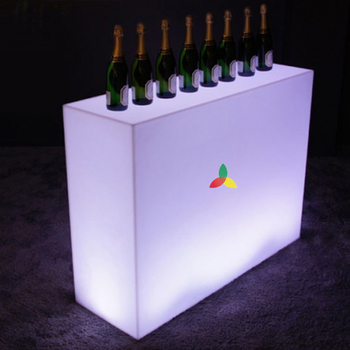 Latest model round shaped led lighted mobile bar counter