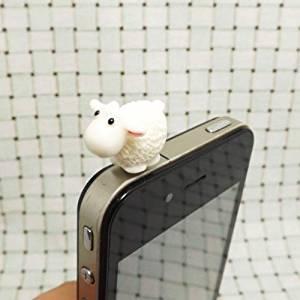 Cute White Sheep Goat Horse Cow Capricorn Dust Plug 3.5mm Phone Accessory Cell Phone Plug iPhone Dust Plug Samsung Plug Phone Charm Headphone Jack Earphone Cap Ear Cap Dust Plug