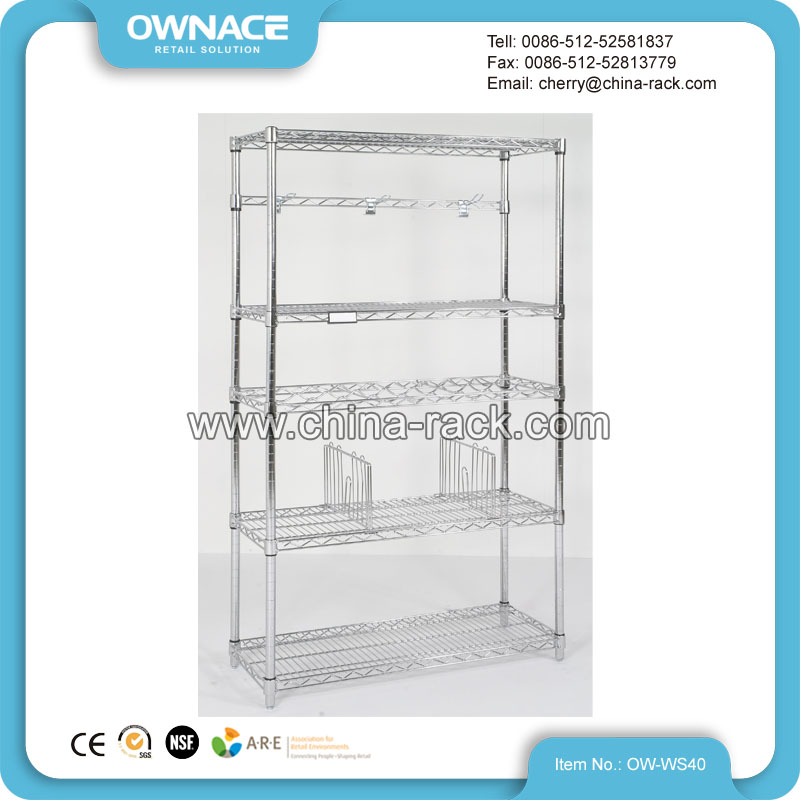 New Design Adjustable Chrome Metro Wire Shelving For Storage - Buy ...