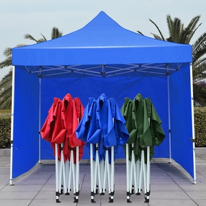 red 3x3 digital printing logo foldable gazebo food truck awning