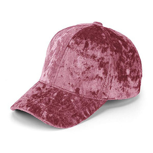 c981e693b Unisex Crushed Velvet Baseball Hat Adjustable Soft Shining Cap 10 Cotton  And 90 Polyester Custom Baseball Hat