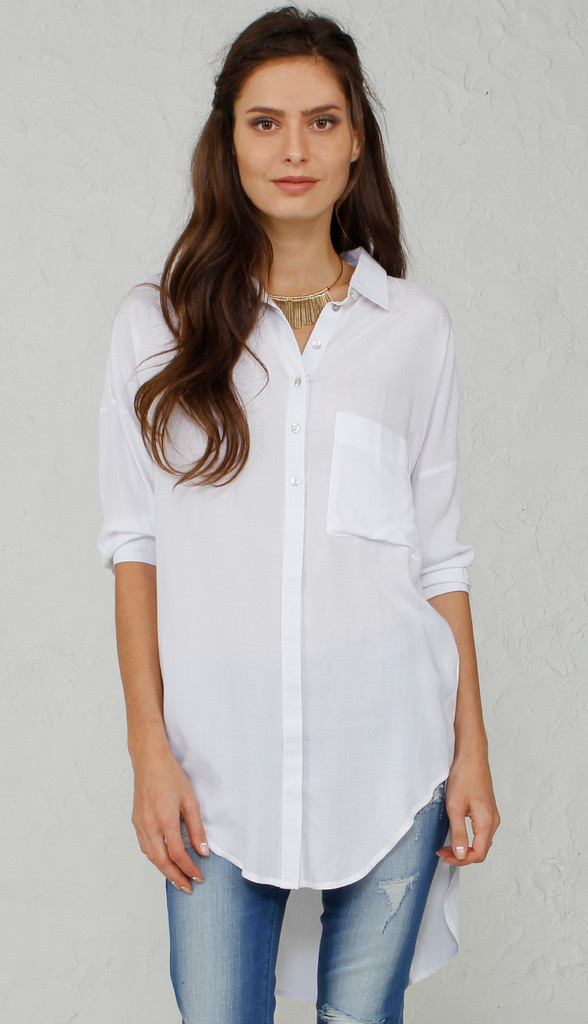 New Women Office Wear Clothing Long Sleeve White Shirt