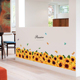 Yellow Sunflower Wall Decal Sticker Living Room Decor PVC Wall Border Stickers