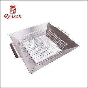 Amazon hot sell stainless steel BBQ tools grill basket