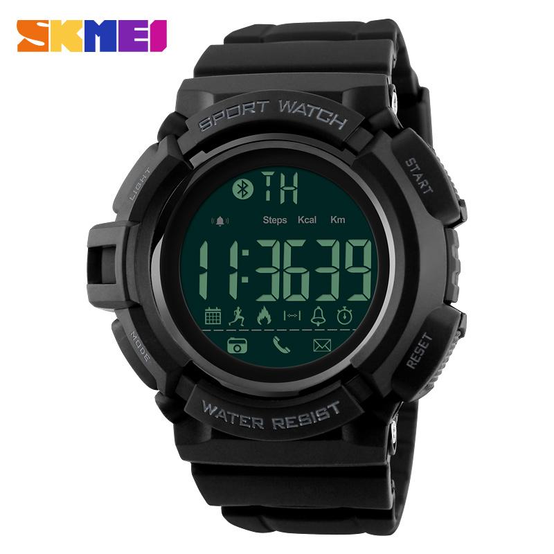 SKMEI 1245 Sporty Bluetooth Digital Watch GPS Rubber Smart Sport Running Men Watch, 3 colors for choose from