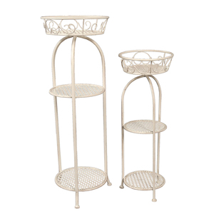 Powder Coated 3 Tier Storage Holder Use Metal Material Home Storage Rack
