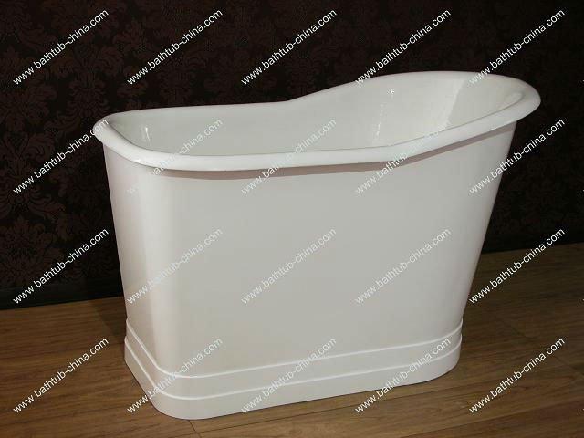 Deep Cast Iron Tub Part - 39: Deep Cast Iron Bath/ Small Bathtub/ Freestanding Tub With Skirt - Buy Deep  Cast Iron Bath,Freestanding Tub With Skirt,Small Bathtub Product On  Alibaba.com