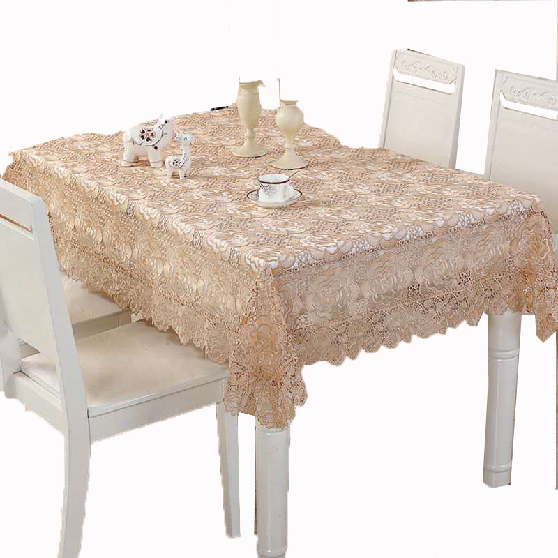 wholesale organza embroidered lace table cloth wedding tablecloth