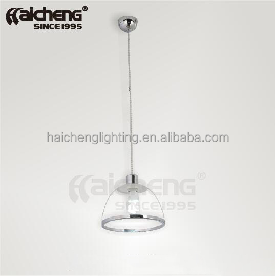 Guzhen acrylic dinning lighting clear color plastic pendant light